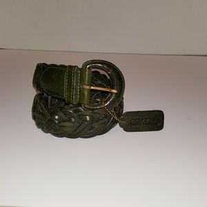 COACH 8520 LEATHER WOVEN BELT